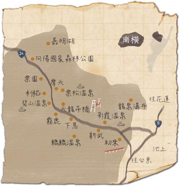 旅遊景點-南橫map
