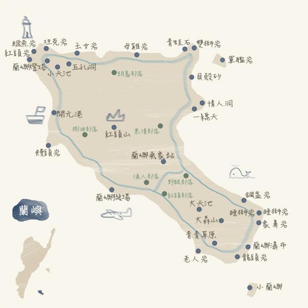 旅遊景點-蘭嶼map