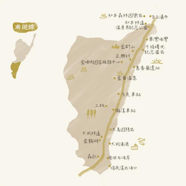 旅遊景點-南迴map