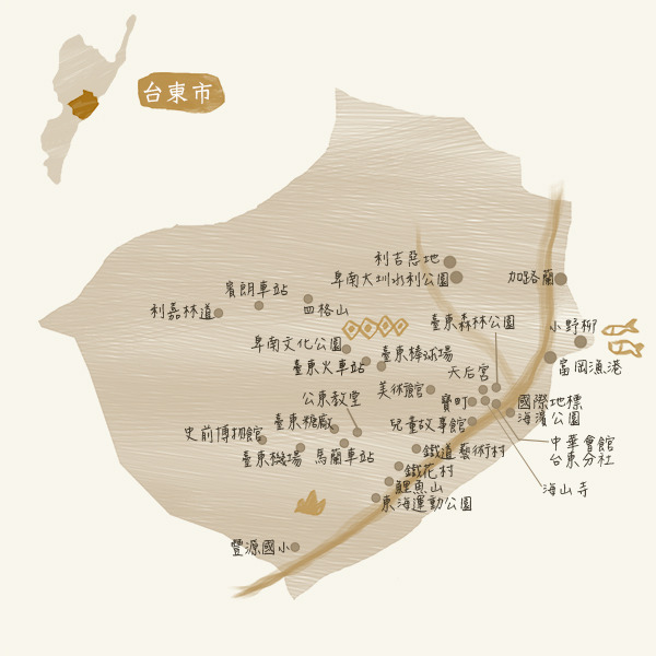 旅遊景點-台東市map